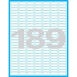 25,4x10 mm Print etikety / samolepicí etikety