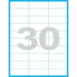 70x29,6 mm Print etikety / samolepicí etikety