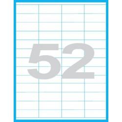 52,5x21,2mm Print etikety / samolepicí etikety (52 ks)