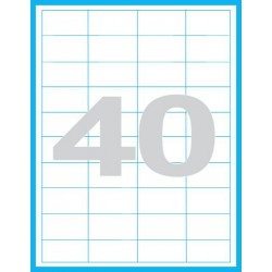 48,5x25,4 mm Print etikety / samolepicí etikety (40 ks)