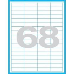 48,5x16,9 mm Print etikety / samolepicí etikety
