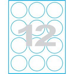 Kruh 60 mm Print etikety / samolepicí etikety
