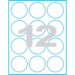 Kruh 60 mm - Print etikety / archové etikety