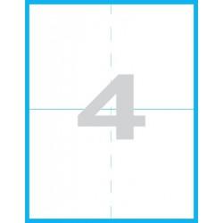 105x148 mm perforované Print etikety / samolepicí etikety