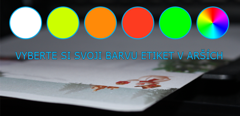 Možné barvy Print etiket / archových etiket